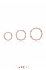 Pack 3 anneaux Silicone - Calexotics : Pack de 3 anneaux en silicone, extensibles et robustes, diamètre 3,25 / 3,5 / 4,5 cm, pour toute utilisation, par Calexotics.