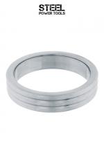 Cockring Ribbed acier : Cockring haute qualité, strié, en acier inoxydable massif. Diamètre intérieur de 40, 45 et 50 mm.