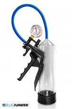 Développeur de pénis avec manomètre - Blue Junker : Pompe à pénis haute qualité avec manomètre et valve de décompression rapide, le must pour augmenter la taille de votre verge.