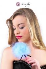 Plumeau 18 cm bleu - Secret Play : Petit plumeau coquin pour affoler ses sens avec de douces caresses par Secret Play.