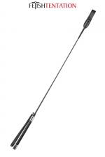 Cravache noire - Fetish Tentation : Cravache SM noire 71 cm de long,avec poignée fine antidérapante aux extrémités métallisées.