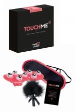 Jeu érotique TouchMe : Jeu coquin spécial sensations pour couple contenant des défis érotiques à réaliser et 3 accessoires sensuels pour vous aider.